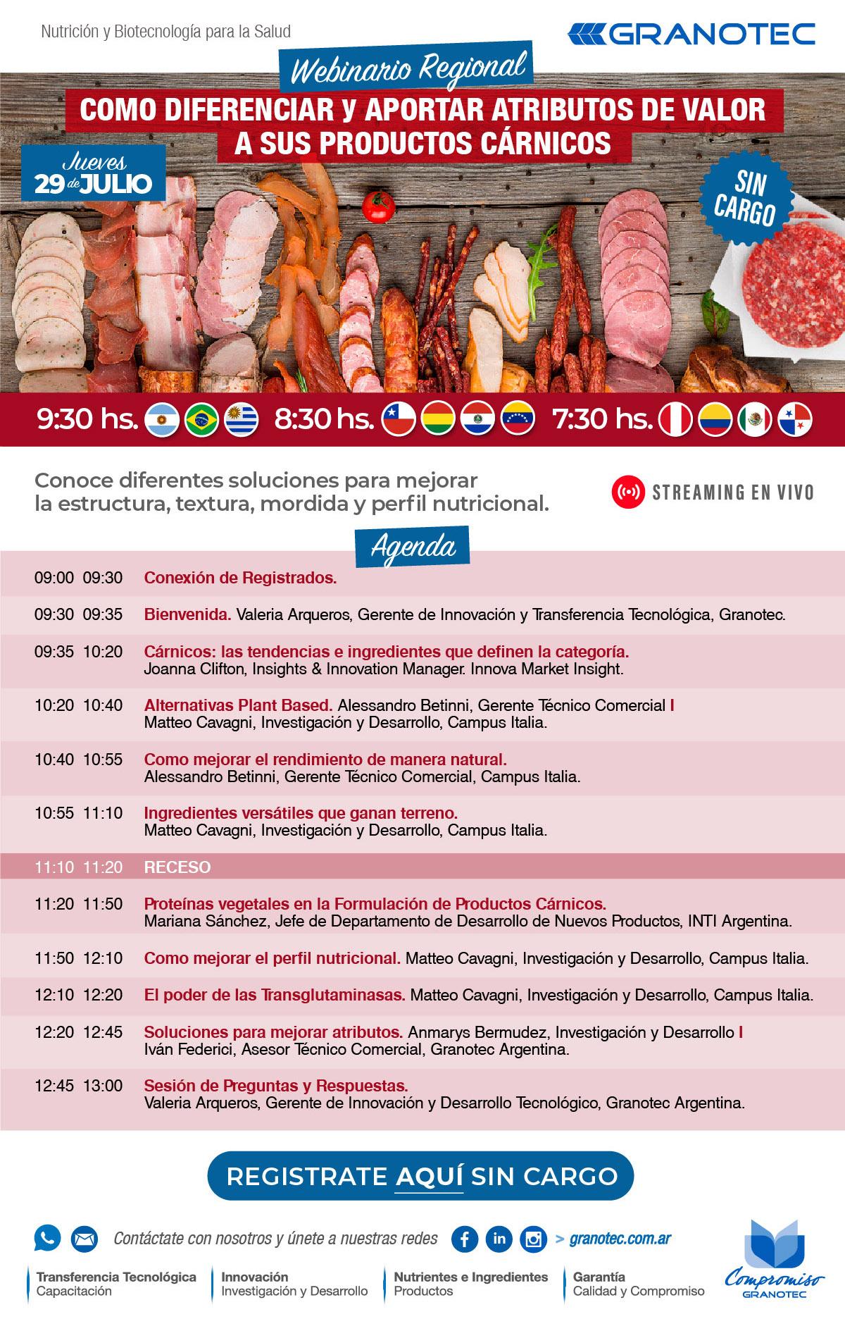 WEBINARIO REGIONAL SIN CARGO / CARNICOS / JUEVES 29 DE JULIO